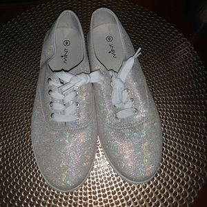 holographic sneakers women's size 8